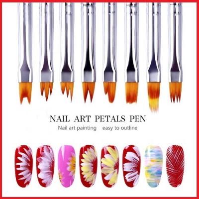 Σετ 8 Πινέλων Nail Art Ombre Flower