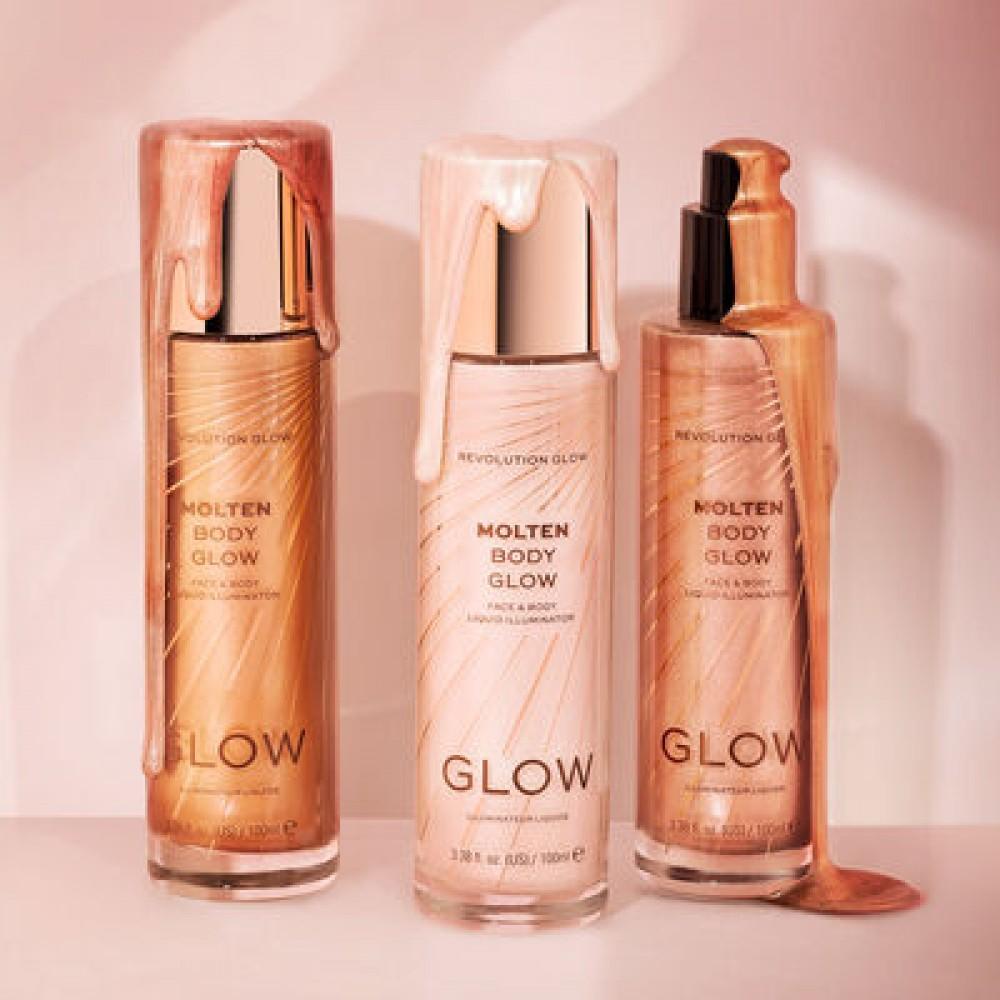 Makeup Revolution Glow Molten Body Rose Gold Liquid Illuminator