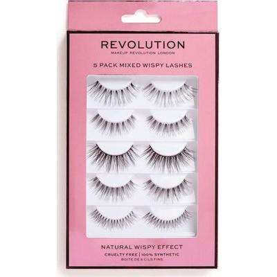 Revolution Beauty 5 Pack Mixed Wispy Lashes